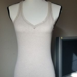 5 for 15! Mossimo Oatmeal Lace Trim Tank